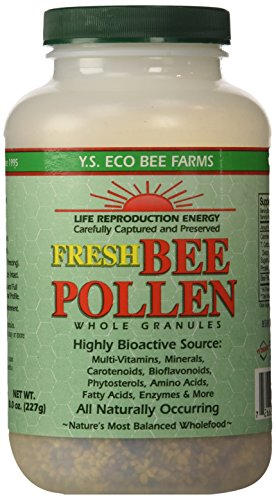 Y.S. Organics Fresh Bee Pollen Whole Granules, 8 Ounce (Organic Bee Pollen)