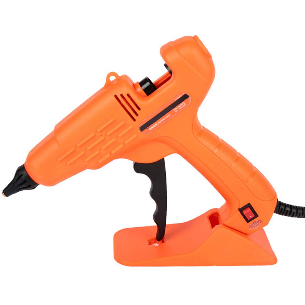 DGYAXIN Mini Hot Glue Gun, Innovative Hot Melt Glue Gun, High Temperature Built in Fuse Enhanced Safety Features, for Arts and Crafts Home and Office,Orange,100W