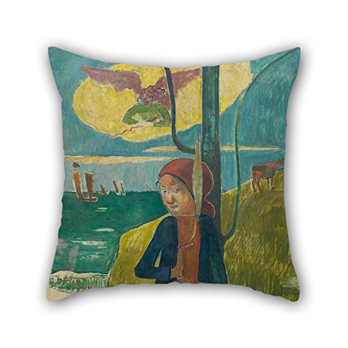 18 X 18 Inches / 45 By 45 Cm Oil Painting Paul Gauguin - Breton Girl Spinning Pillowcase,double Sides Is Fit For Shop,dining Room,adults,pub,home Theater,sofa (Breton Knit)