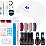Gellen Gel Polish Kit with UV Light - Elegance 4 Colors Stylish Nail - Best Reviews Guide