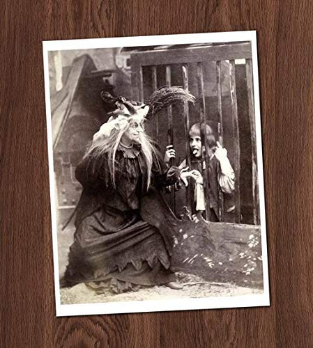 Creepy Kid Witch Child Photo Vintage Art Print 8x10 Wall Art Halloween Costume UNframed -