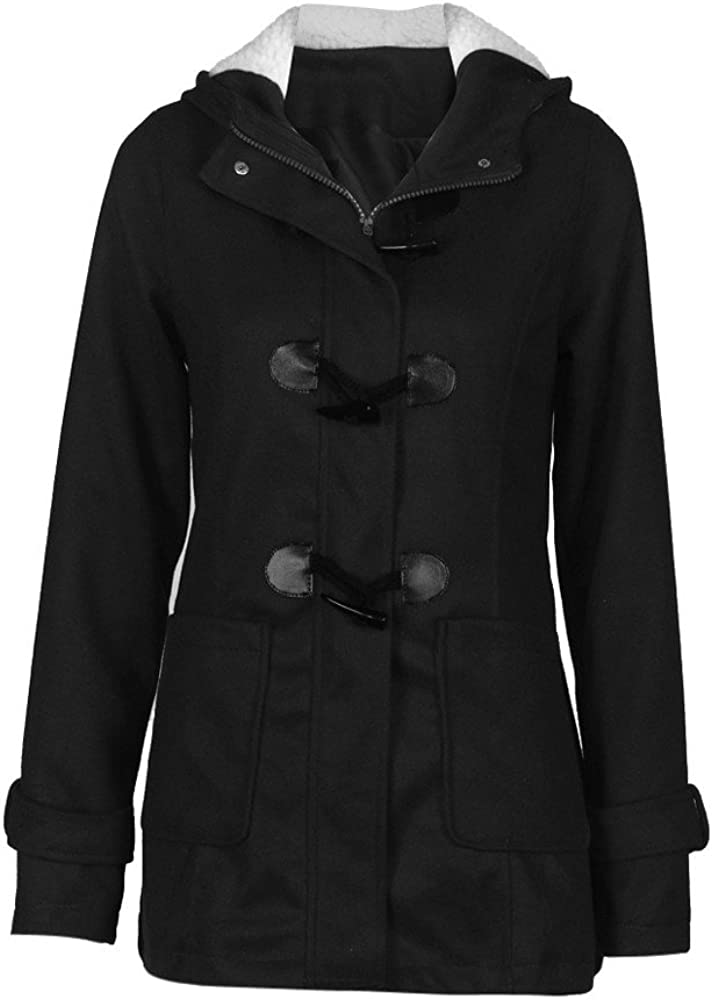 HGWXX7 Womens Winter Warm Plus Size Cotton Long Jackets Hooded Outwear Trench Coats