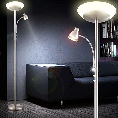 LED Deckenfluter Standleuchte Wohnzimmer Leselampe Stehleuchte Stehlampe Globo 59021 Amazonde Beleuchtung