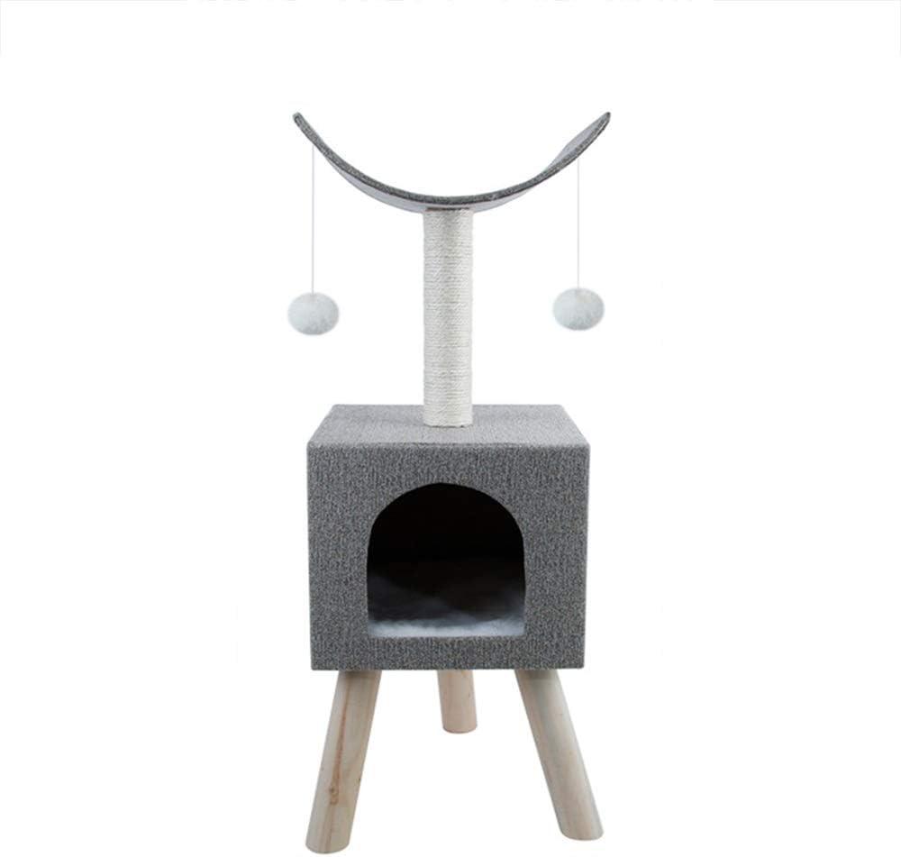 BoPin 猫のスクラッチボード四季利用可能な猫クライミングフレーム猫のトイレ猫のおもちゃパズルパズルを和らげるサイザル猫ツリー猫スクラッチボード猫ジャンププラットフォームグレー 猫スクラッチャー (Color : Gray)