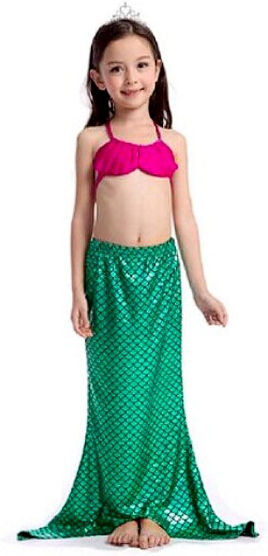 Uplure 3pcs Traje de baño Sirena Mermaid disfraz bebé (Top + ...