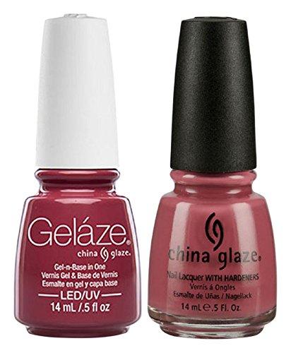 China Glaze Gelaze Tips and Toes Nail Polish, Fifth Avenue, 2 Count