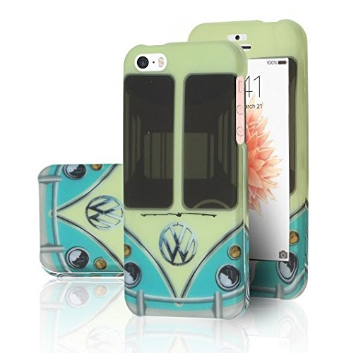 iphone-se-case-durarmorr-iphone-se-5s-5-lifetime-warranty-retro-cyan-turquoise-volkswagen-mini-van-v