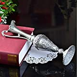 Hot Pewter Plated Metal Flower Vase Used As Home Decoration Plant Creative Holder Container Indoor Office
