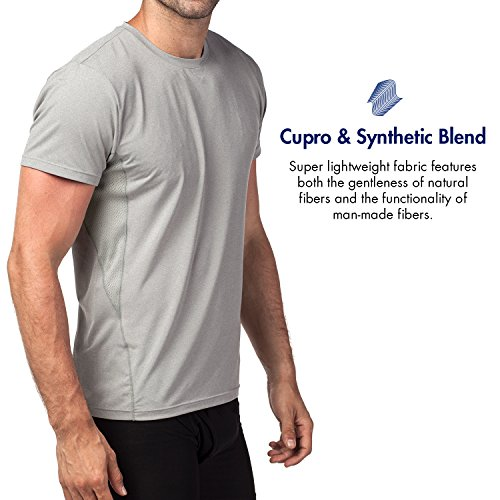 T shirt Running Performance Tecnologia M15 Cupro Sport Palestra Uomo Antiodore Grigio Lapasa 65q8xwBB