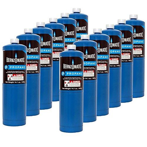 Bernzomatic 14.1 oz. Propane Gas Cylinder - 12 Cylinders