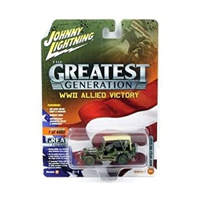 Johnny Lightning 1: 64 The Greatest Generation: WWII Allied Victory - Willys MB Jeep with Beige Soft Top (Dirty Version) Diecast Vehicles: Toys & Games