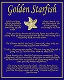 Golden Starfish Story Card & Lapel Pin