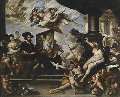 'Giordano Luca Rubens Pintando La Alegoria De La Paz Ca. 1660 ' Oil Painting, 20 X 25 Inch / 51 X 63 Cm ,printed On Polyster Canvas ,this Cheap But High Quality Art Decorative Art Decorative Prints On Canvas Is Perfectly Suitalbe For Kitchen Artwork And Home Decoration And Gifts]()