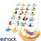 Cakeshop 24 x Disney Princess Edible Cake Toppers by eShack
