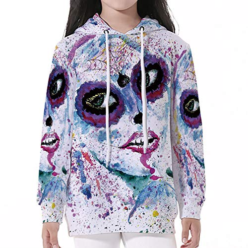 Young Boy Girl Kids Autumn Winter Long Sleeve,Girls,Grunge Halloween Lady with -