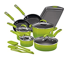 Rachael Ray Hard Porcelain Enamel Nonstick Cookware Set