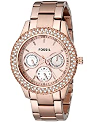 Fossil Women's ES3003 Stainless Steel Analog Pink Dial Watch
