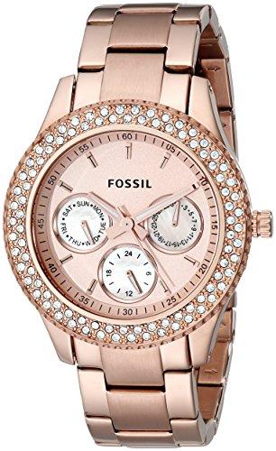 Fossil Women's ES3003 Stella Analog Display Analog Quartz Rose Gold Watch