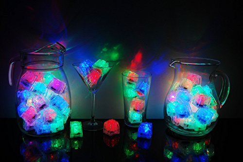 LiteCubes Set of 72 Brand 8 Mode Multicolor Rainbow Light up LED Ice Cubes