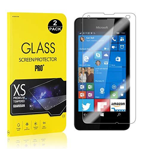 Bear Village® Displayschutzfolie für Microsoft Lumia 550, 9H Hart Schutzfilm aus Gehärtetem Glas, Ultra klar Displayschutz Schutzfolie für Microsoft Lumia 550, 2 Stück
