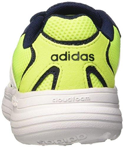 adidas Cloudfoam Speed K, Zapatillas de Deporte Exterior Unisex Bebé Negro / Blanco / Amarillo (Maruni / Ftwbla / Amasol)