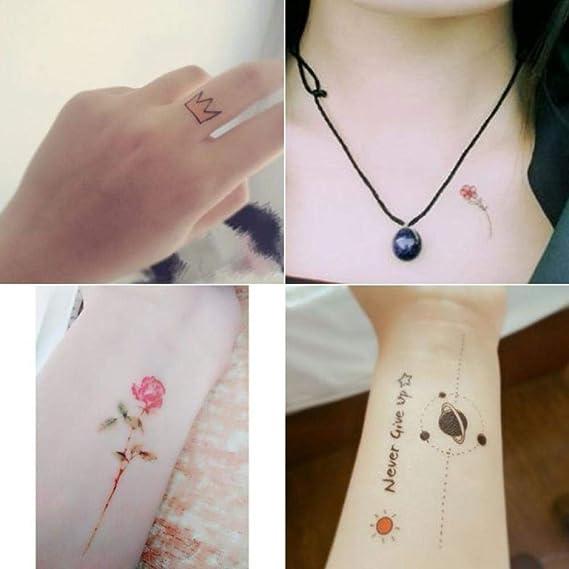 Pegatinas de tatuaje impermeables femeninas duraderas pequeñas ...