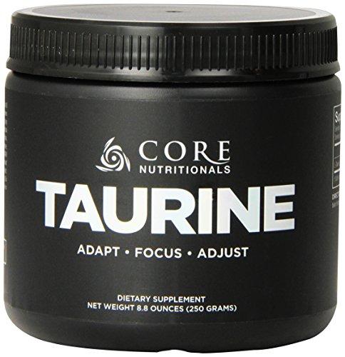 Supplément diététique Nutritionals Taurine, 250 grammes de base