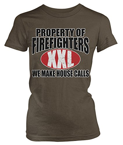 Junior Firefighter Badge (Amdesco Junior's Property of Firefighters We Make House Calls T-shirt, Dark Chocolate Small)