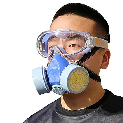 Dual-válvula del filtro protector Máscara de gas Máscara química del respirador de gas Seguridad