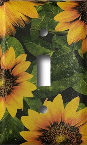 Sunflower Toggle - Sunflower Design Decorative Single Toggle Light Switch Plate Cover