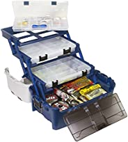 PLANO Tackle Systems Hybrid Hip 3 Stowaway Box, White/Blue