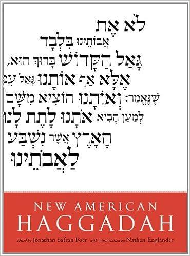 photo about Printable Haggadahs known as Fresh American Haggadah: Jonathan Safran Foer, Nathan