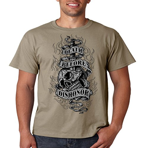 Patriotic T Shirt Death Before Dishonor Mens Tee