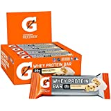 Gatorade Whey Protein Bars, Vanilla Almond, 2.8 oz bars (Pack of 12, 20g of protein per bar)