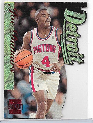 1996-97 Stadium Club Basketball Joe Dumars Die Cut Fusion Insert Card # -