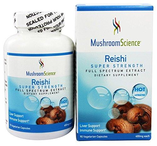 Mushroom Science, Reishi, Super Strength, 400 mg, 90 Veggie Caps