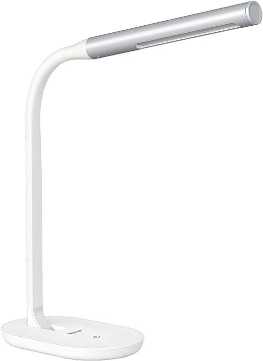 Aglaia Lampada da Tavolo a LED, 7W con Porta USB, Touch Dimmerabile Controllo con 3 Livelli per Protezione degli Occhi, Braccio Flessibile 360°.