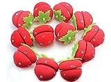 mimi flat iron - AENMIL Strawberry Sponge curlers Hair Roll Ball Salon Supplies Beauty curls Tool - 2bags(12pcs)