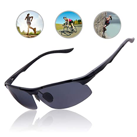 cfc0e3471964 Image Unavailable. Image not available for. Color: TAIQX Sport Sunglasses  for Men Driving Cycling Softball Baseball Hiking Fishing Mens Polarized ...