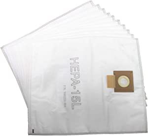 Viper (Nilfisk) VA81400-P10 HEPA SMS Microfibre Dust Bags 15 Litre (Pack of 10) for DSU12, DSU15, White