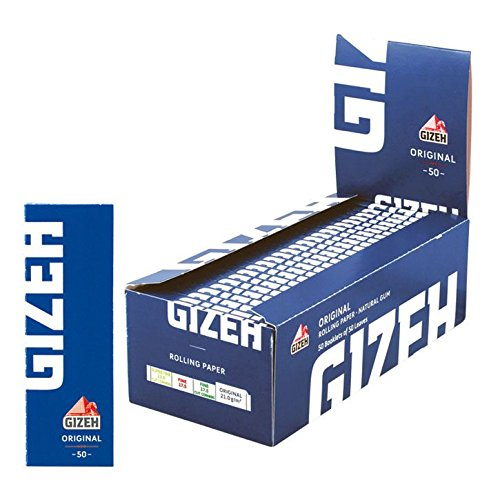 50 Booklets GIZEH ORGINAL Rolling Paper Blue Box 2500 Papers -