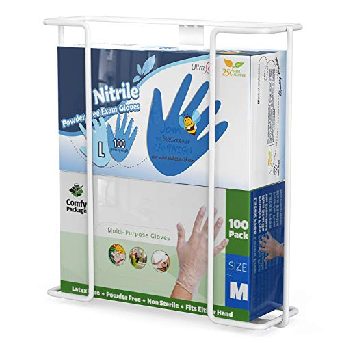 TITE Disposable Glove Box Holder Dispenser Double Wall Mounted Universal Napkin Wire Rack Standard Size ()