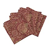 Roostery Damask Renaissance Floral Medieval Islamic Nature Organic Sateen Dinner Napkins Damask 3A by Muhlenkott Set of 4 Dinner Napkins