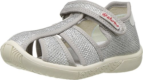 Naturino Baby Girl's 7785 SS18 (Toddler/Little Kid) Silver 22 M EU M