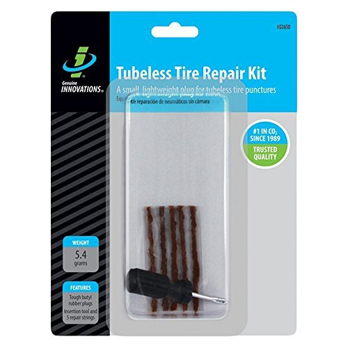 Genuine Innovations Unisex Adult Tubeless Tyre Repair Kit - Multi-Coloured, One Size