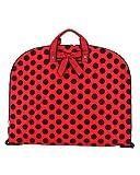 Belvah Quilted Polka Dot Travel Garment Bag (Red/Black), Bags Central