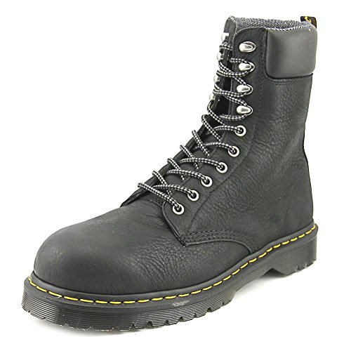 Dr. Martens Mens Rufford EH ST 10 Tie Leather Work Boots Black