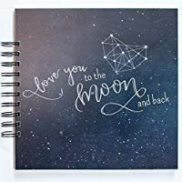 Baby Memory Book with Keepsake Bag Baby Photo Journal and Album First Year Memory Book Celestial Stars and Moons Gender Neutral LGBTQ Friendly