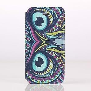 MOFY- ojos brillantes patr—n de caso de cuerpo completo con soporte para el iphone 4 / 4s