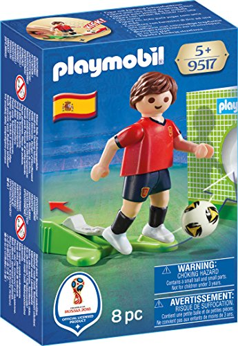 playmobil joueur de foot quipe d 39 espagne football espagnol coupe du monde 2018 ebay. Black Bedroom Furniture Sets. Home Design Ideas